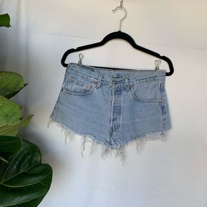 Levi's Women's cutoff jean shorts